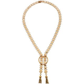Necklace in 18k yellow gold. Weight: 46.2 g. Length: 19.6""