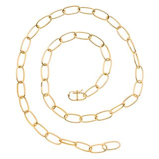 Necklace in 14k yellow gold. Weight: 45.9 g. Length: 27.5""
