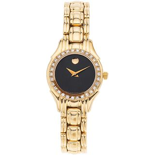 Watch in 14 gold and diamonds, Ref. 835854. Movement: quartz. Weight: 32.9 g