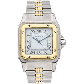 Cartier Santos watch in steel and 18k yellow gold. Movement: automatic.