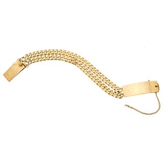 Bracelet in 18k yellow gold. Weight: 43.5 g.