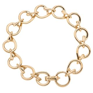 Bracelet in 18k yellow gold. TANE. Weight: 29.7 g. Length: 7""