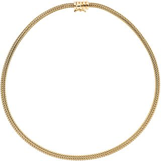 Choker in 18k yellow gold. TANE. Weight: 38.8 g. Length: 15.9""