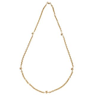 Necklace in 18k yellow gold. TANE. Weight: 91.1 g. Length: 27.5""
