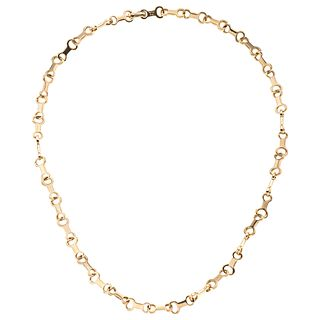Choker in 18k yellow gold. TANE. Weight: 38.2 g. Length: 16""