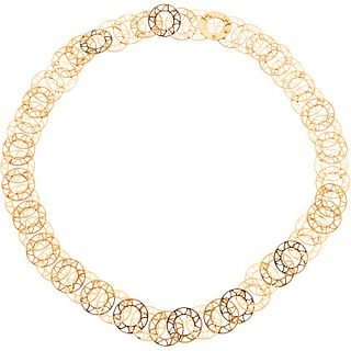 Necklace in 16k yellow gold. Weight: 29.5 g. Length: 20.4""