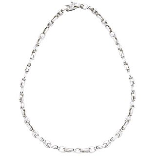 Choker in 18k white gold. Fulkro Italy. Weight: 46.7 g. Length: 17.9""