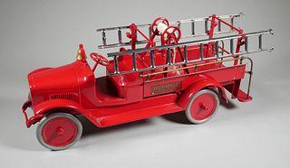 BUDDY L #205 Pressed Steel FIRE TRUCK