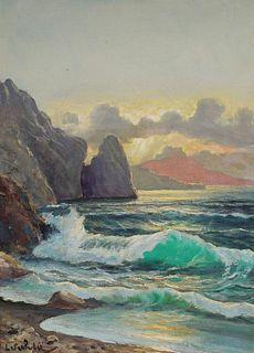 L.S. WHITE, Oil on Canvas Seascape