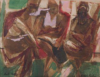 ETHEL RABIN, Expressionist Woodblock