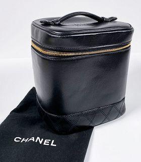 CHANEL Black Cosmetic VANITY Handbag Case