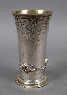 Old German 800 Silver Tumbler or Beaker
