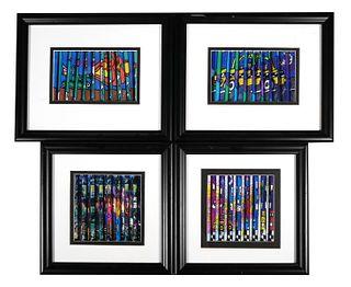 (4) Stephen Shrem Framed 3-D Prints