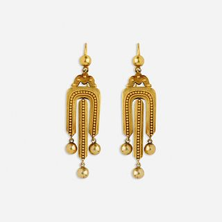 Revivalist gold earrings