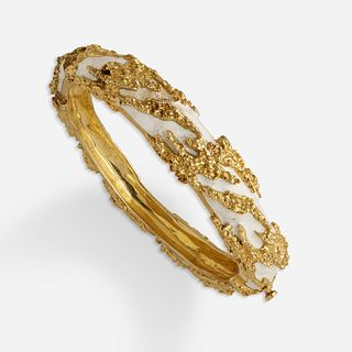 Jack Gutschneider, White enamel and gold bracelet
