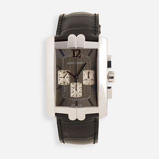 Harry Winston, Avenue C white gold chronograph wristwatch