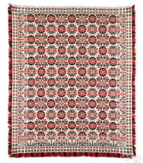 Pennsylvania jacquard coverlet