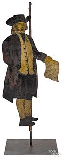 Painted sheet iron figure of William Penn
