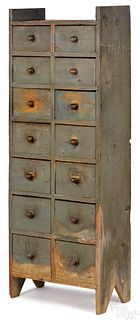 Painted pine apothecary cupboard