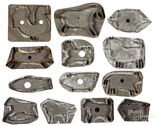 Collection of tin cookie cutters