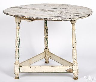 Painted hard pine tavern table