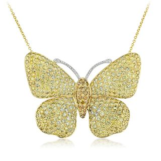 Diamond Butterfly Pin/Pendant Necklace
