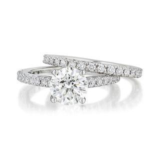 Diamond Ring and Band Set