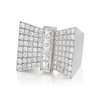 Vintage Diamond Ribbon Ring