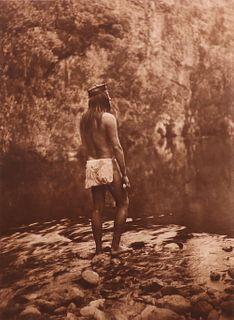 "Edward Curtis Original Photogravure ""The Apache"" 1906"