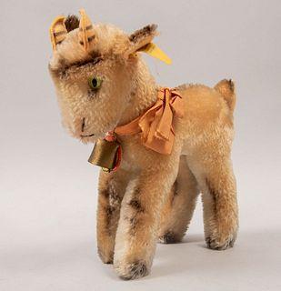 Toy Goat ZICKY. Germany. 20th century. Steiff. Plush toy. Brand label.