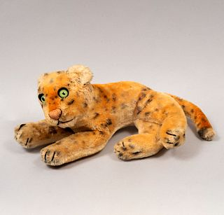 Toy Leopard. Germany. 20th century. Steiff. Plush toy.