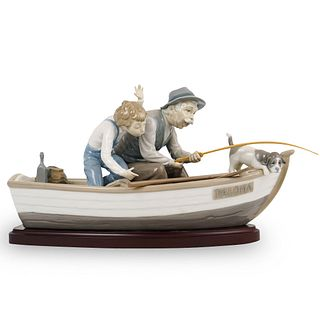 """Lladro """"Fishing With Gramps"""" Porcelain"""