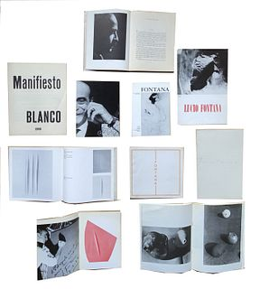 Fontana, Lucio<br><br>Manifiesto Blanco 1946, without place, without publisher, [1960 ca.], 22.5x25 cm., Double loose leaf paperback, pp. [8].