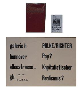 Richter, Gerhard<br><br>Polke / RichterHannover, Editions CR: 3, 1966, 23.9 cm x 15.9 cm, paperback, pp. [20].