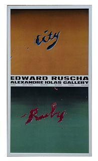 Ruscha, Edward<br><br>Edward Ruscha [ed.], Alexandre Iolas Gallery, [1970], 91x50 cm.