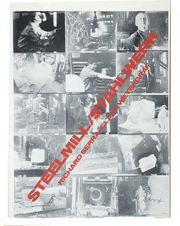 Weyergraf, Clara [Clara Weyergraf - Serra]<br><br>Steelmill / Stahlwerk. Richard Serra - Clara Weyrgrafs.l., [Print: Alan Litograph Inc.], [1979], 58x