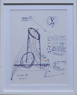 Tinguely, Jean<br><br>V / NR [La Victoire du Nouveau Réalisme] (Milan), (Sergio Tosi), s.d. [November / December 1970], 46.7x33.5 cm.