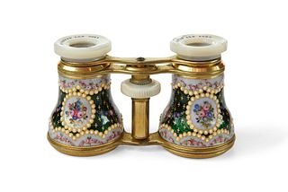 Pair of Enamel Opera Glasses