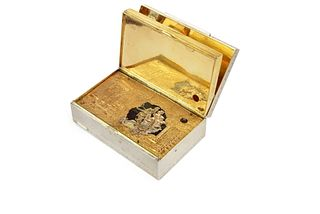 Silver Gilt Automation Box with Erotic Scene