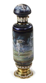 French Gold and Enamel Scent bottle