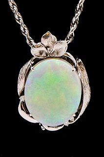 18K & 14K Gold 16.65 ct Opal & Diamond Necklace