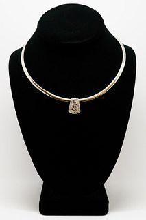 Italian Two-Tone 14K & Diamond Pendant Necklace