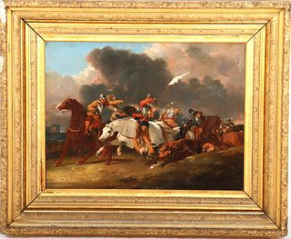 Manner of Abraham Cooper Cavalry Oil on Canvas