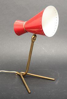 Stilnovo Enameled Metal & Brass Desk Lamp