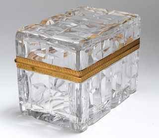 French Ormolu Mounted Cut Glass Hinged Box