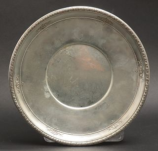 Wallace Sterling Silver Plate w Repousse Rim
