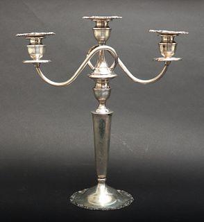 Sterling Silver Three-Light Candelabrum