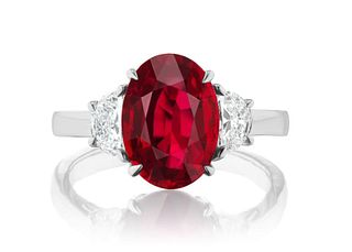 4.15ct Ruby And 0.58ct Diamond Ring