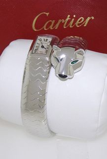 Cartier Panther Onyx Watch Retail 100,000