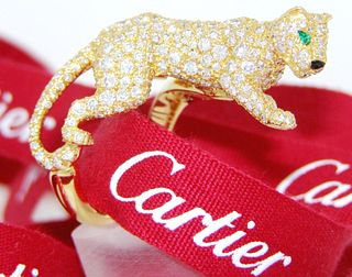 Cartier Prowling Panther Ring Retail $73,500